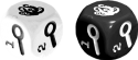 Elder Sign: Unseen Forces: Black and white dice.