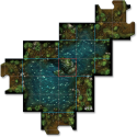 Descent: Journeys in the Dark (Second Edition) - The Trollfens: Map tile.