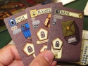 "Belfort: Set-up: Hand of 3 selected building cards. Photo by BGG reviewer <a href=""http://www.boardgamegeek.com/user/EndersGame"">EndersGame</a> and used with permission."